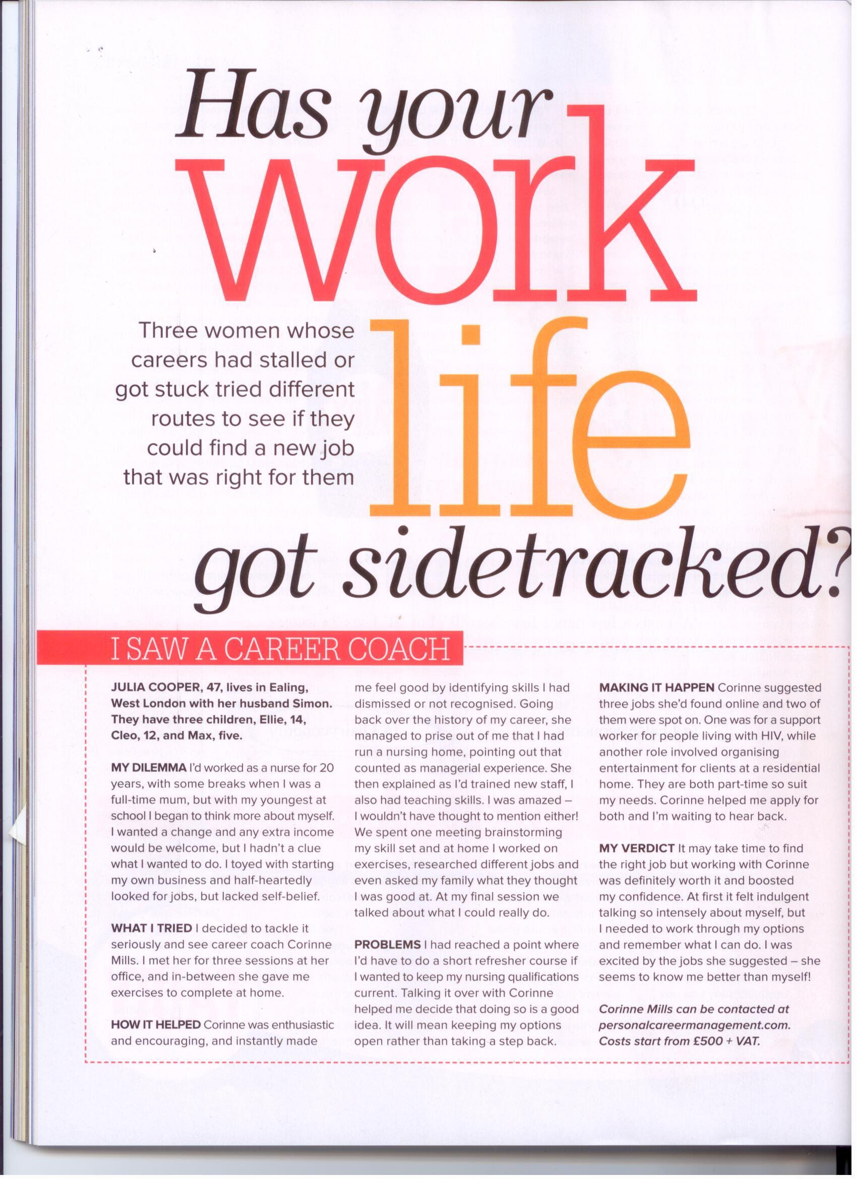 Woman & Home: Has your work life got sidetracked?