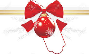 Festive bow and bauble